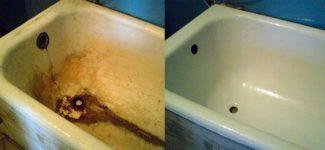 Ванна стала шершавой что делать