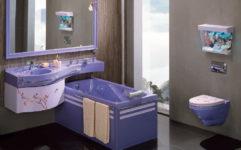 Цветные ванны из литьевого мрамора