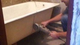 Как разрезать чугунную ванну