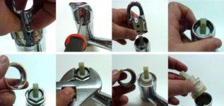 Как разобрать смеситель в ванной однорычажного типа