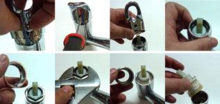 Как починить смеситель с одной ручкой