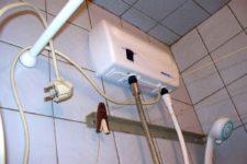 Как установить проточный водонагреватель в ванной