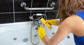 Как почистить акриловую ванну от известкового налета